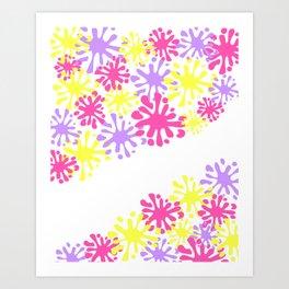 Drip Drop Splat Art Print