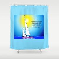 destiny Shower Curtains featuring Destiny by Artisimo