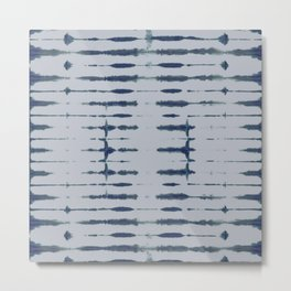 Shibori Lines Metal Print