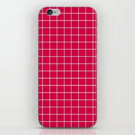 Carmine (M&P) - fuchsia color - White Lines Grid Pattern iPhone Skin