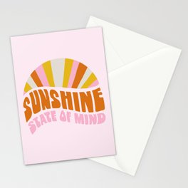 sunshine state of mind, type Stationery Cards