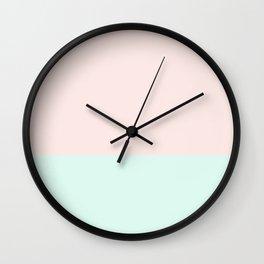 #fce9e5+#def9f0 Wall Clock