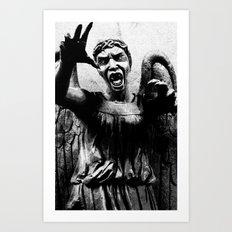 DOCTOR WHO SERIES / WEEPING ANGEL Art Print