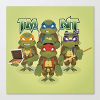 tmnt Canvas Prints featuring TMNT by Micka Design