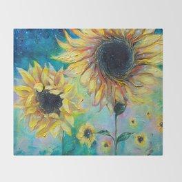 Supermassive Sunflowers Throw Blanket