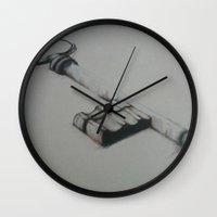 key Wall Clocks featuring Key by Laura Hodgson