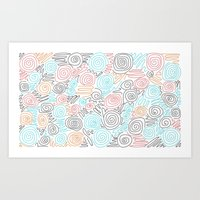 Candy Colours Pquede Art Print