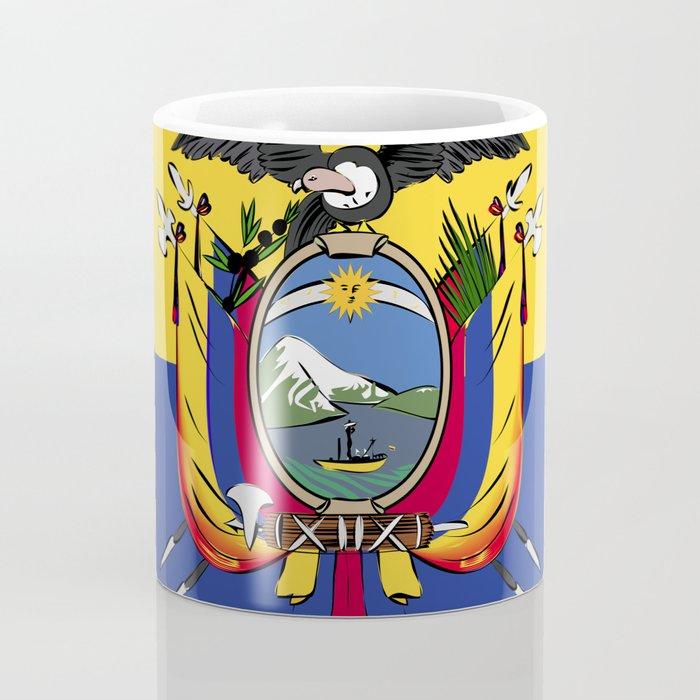 Ecuador flag emblem Coffee Mug