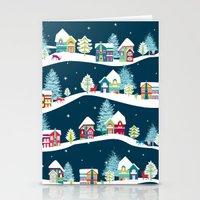 ski Stationery Cards featuring Apres Ski by Polkip