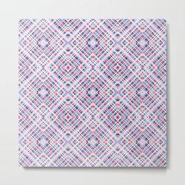 Strigoi - Line Art Diamond Stripes Pattern Metal Print