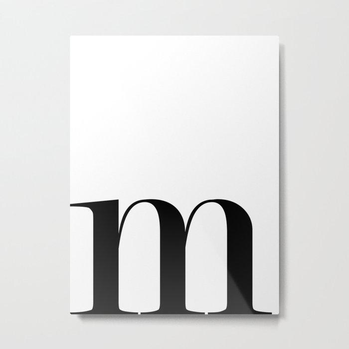 Monogram Series Letter M Metal Print