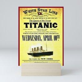 White Star Line Vintage Advertisement Mini Art Print
