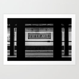 Fifth Ave Subway Art Print