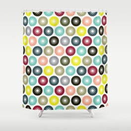 Geometric Pattern 243 (colorful stars) Shower Curtain