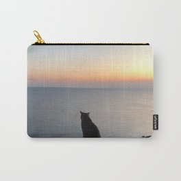 Tigrou looking the Sunset Carry-All Pouch