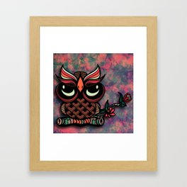 Owl Tangle Framed Art Print