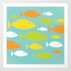School of Fish Variation Two Art Print