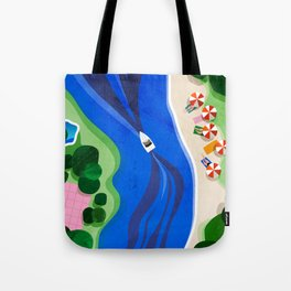 Cruising on a summer day Tote Bag