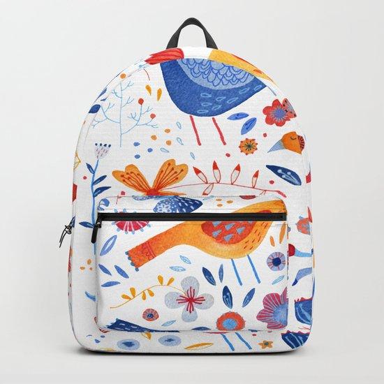 Birds in a Garden Backpack