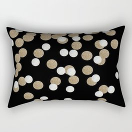 Glamorous chic New year eve party minimalist black gold confetti Rectangular Pillow