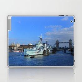 HMS Belfast, Tower Bridge and the Tower of London Laptop & iPad Skin