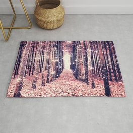 Millennial Pink Magical Forest Rug