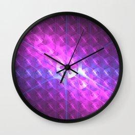 Shiny Purple Button Wall Clock