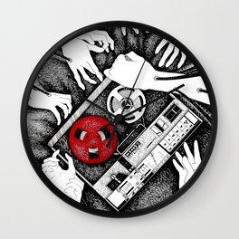Grabbing Music Wall Clock