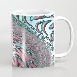 Coral and Teal Spiral Coffee Mug