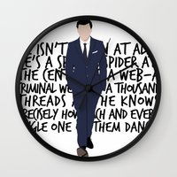 moriarty Wall Clocks featuring James Moriarty by tookthat