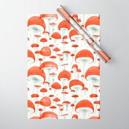 Mycelium Fruiting Bodies by Friztin © 2017 Wrapping Paper