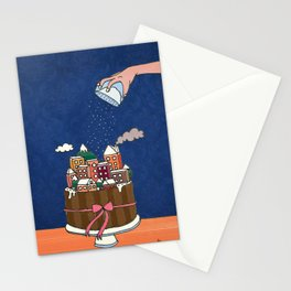 Powdered sugar, not snow! Stationery Cards