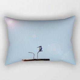 Pied Kingfisher Rectangular Pillow