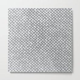 Neutral Farmhouse burlap texture Ultimate Gray Metal Print