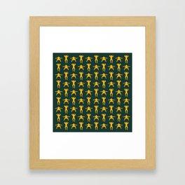 Clay Calisthenics Framed Art Print