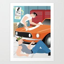 Muscle Car for Handsome Devil Press Art Print