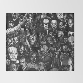 Classic Horror Guice Throw Blanket