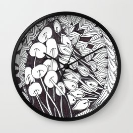 Zen Doodle Graphics zz13 Wall Clock