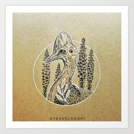 Cassowary Love Art Print