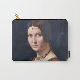 "Leonardo da Vinci ""La belle ferronnière"" Carry-All Pouch"