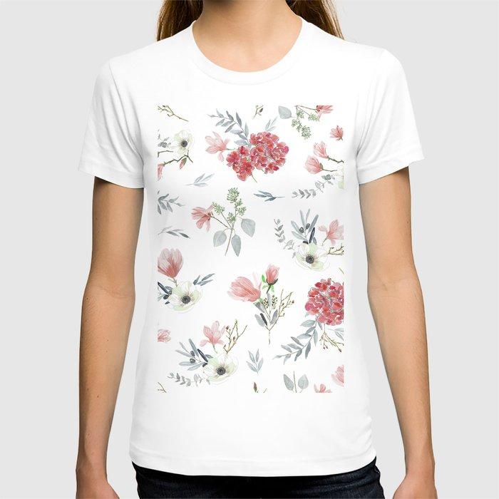 Autumn Floral Pattern T-shirt