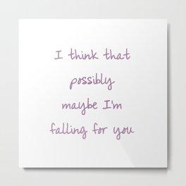 Falling in Love at a Coffeeshop Metal Print