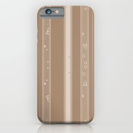 Camel and Beige Patterned Stripes iPhone Case