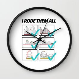 Funny Roller Coaster Saying For The Fair Wall Clock