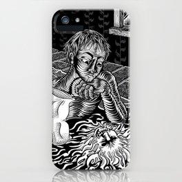 His Nightmare -- Digital Ink Illustration iPhone Case