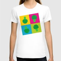 popart T-shirts featuring Popart Broccoli by XOOXOO