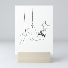 shibari kitty Mini Art Print
