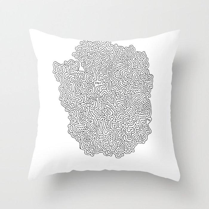 Clock Craze Throw Pillow