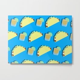 Party Starter: Tacos and Tequila Metal Print