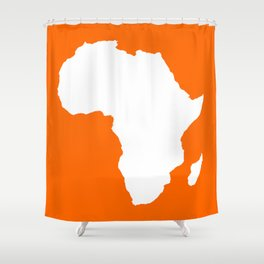 Tangerine Audacious Africa Shower Curtain